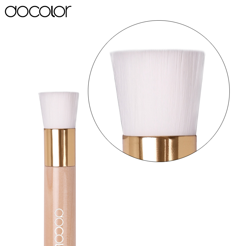 Docolor Soft Mild Fiber Exfoliating Facial Brush Facial Face Deep Cleansing Clean Wash Pore Care Brush Head Wood face cleaner electric face brush spa skin care massage deep clean multifunctional facial cleansing brush daily cleaning exfoliation