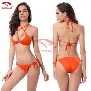 SWIMMART Hot Push Up Buttocks Gold Beads Bikini Swimsuits Swimwear Women Sexy Bikinis Set Bathing Suit Swim XL 10