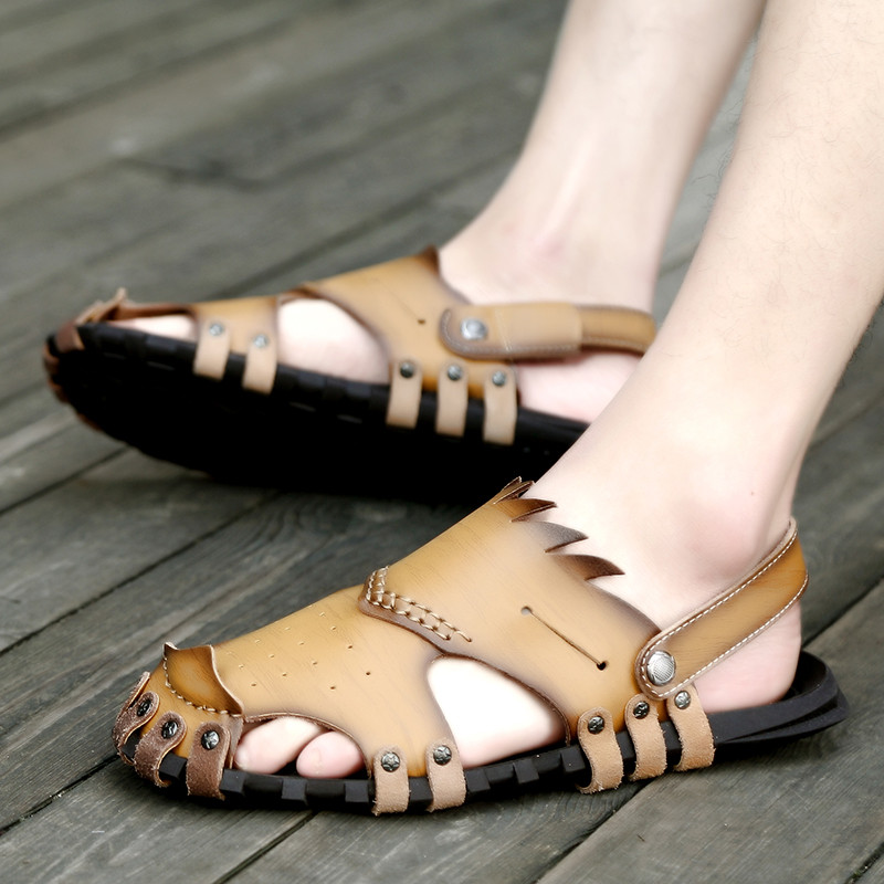 988c8809e37 Nice Fashion Men Sandals Soft Leather Sandals Men High Quality-in Men s  Sandals from Shoes on Aliexpress.com
