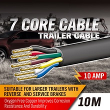 SEDY 10M 7 Core Trailer wiring Cable plug core tool cable 2.5mm Train Wire Caravan Plug Socket Wiring NARVA wire type tool cable