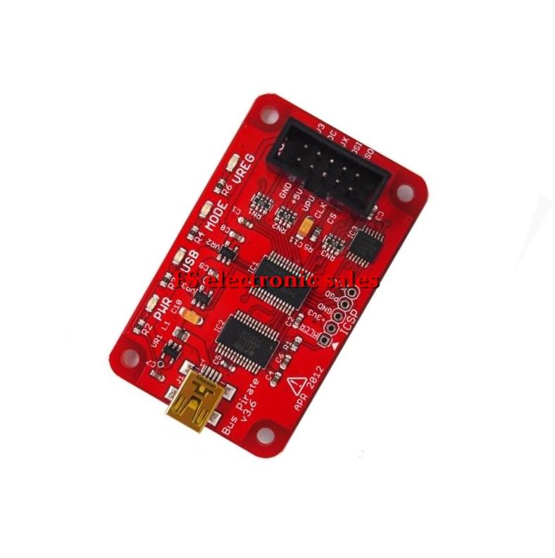 ФОТО Bus Pirate V3.6 Universal Serial Interface Module USB 3.3-5V for Arduino DIY