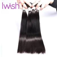 Iwish Hair Malaysian Straight Hair Bundles Natural Color 1/3/4PCS 100% Human Hair Weave Bundles 10 28 inch Remy Hair Extension