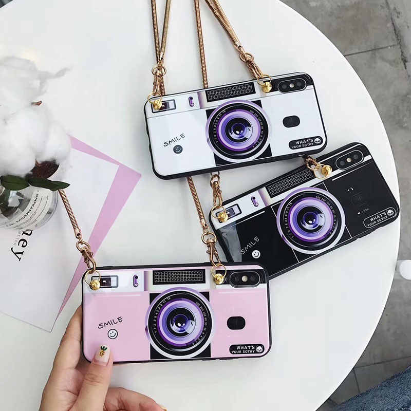 High quality oblique metal camera Case for iPhone X 7 8 6s PlusBling Glitter Phone Cases for coque iPhone 6Plus 7Plus 8Plus Capa