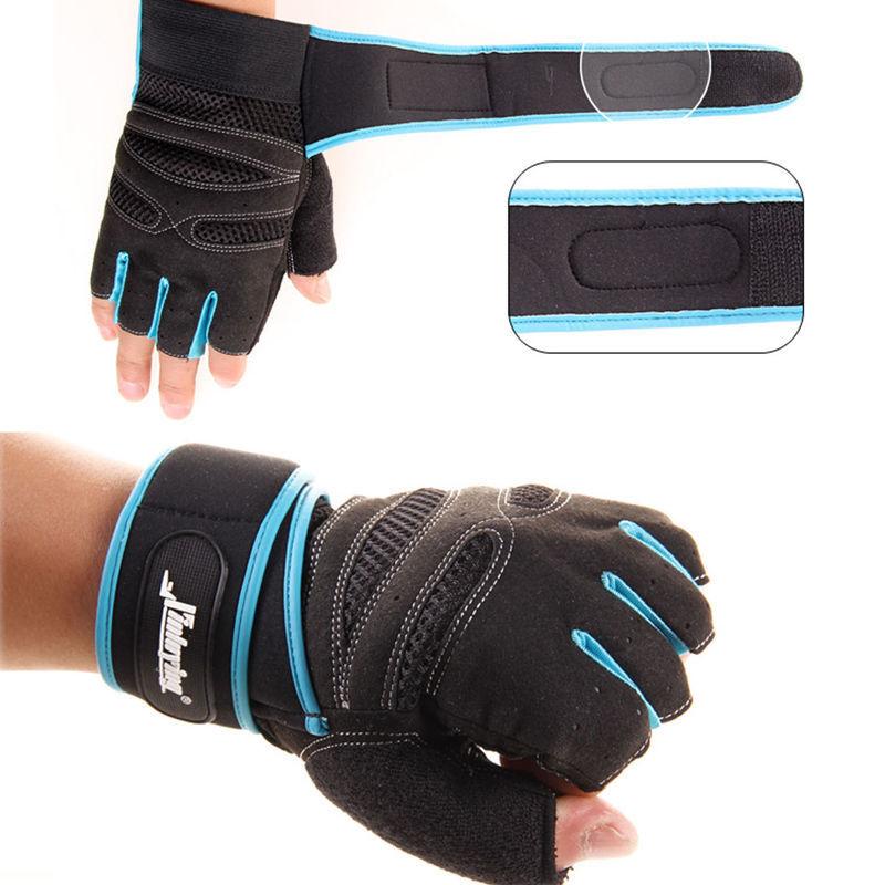 1 Para Heißer Artikel Männer Gewicht Llifting Handschuhe Handgelenk Wrap Übung Schwarz Blau Handschuhe Chinesische Aromen Besitzen