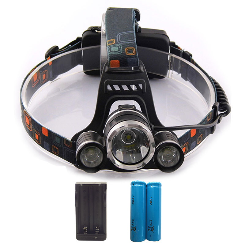 powerful XML T6 Headlight 5000 lm Rechargeable LED Headlamp T6 Flashlight Head Torch lamp Wall AC adapter Charger 18650 Battery 2 in 1 waterproof headlamp headlight xml t6 outdoor sports head lamp front bikelight& 4 18650 battery pack worked charger
