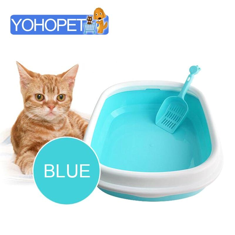 Съемные полу закрытый кошка туалет судно кошачьих туалетов коробка Щенок Pet горшок кошка туалет дать туалетов лопатой щенок туалет для соба...