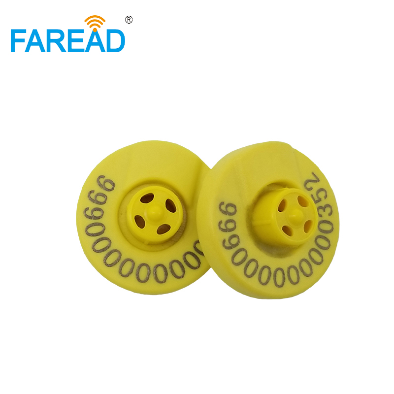 X10pcs Free Shipping Tamperproof Sheep Cow Pig Visual Tag RFID Animal Electronic Ear Tag With ICAR Certification