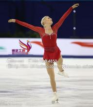 ice skating dress girls hot sale red women figure skating dresses women competition skating clothing free shipping