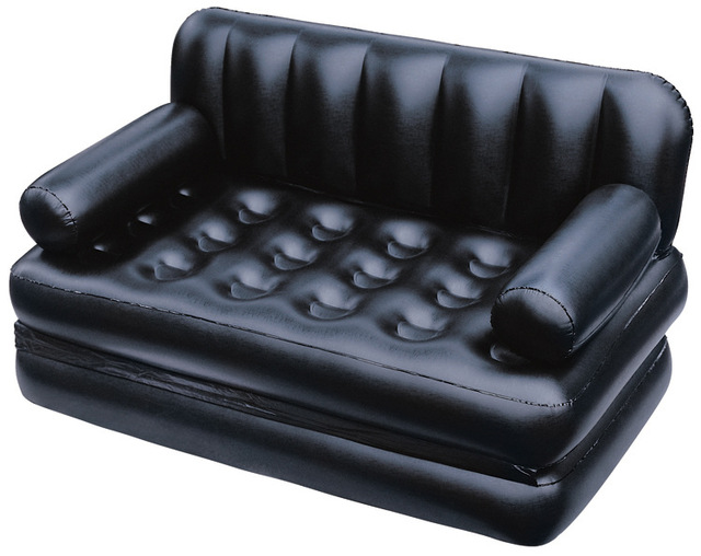 Double Folding Inflatable Sofa Lazy Sofa Multifunctional Sofa Bed Double  Recliner,black Foldable Living Room