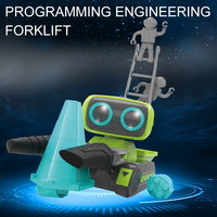 Infrared RC Robot DIY Assembly Tongs Carrying Robot Intelligent Space Transportation Parent Child Interaction Toy