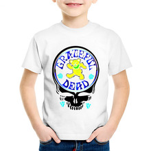 Grateful Dead Skull Printed Children T-shirts Boys/Girls
