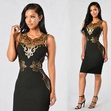 Black Sexy Sequin Women font b Dress b font Bandage Bodycon Desigual font b Dress b