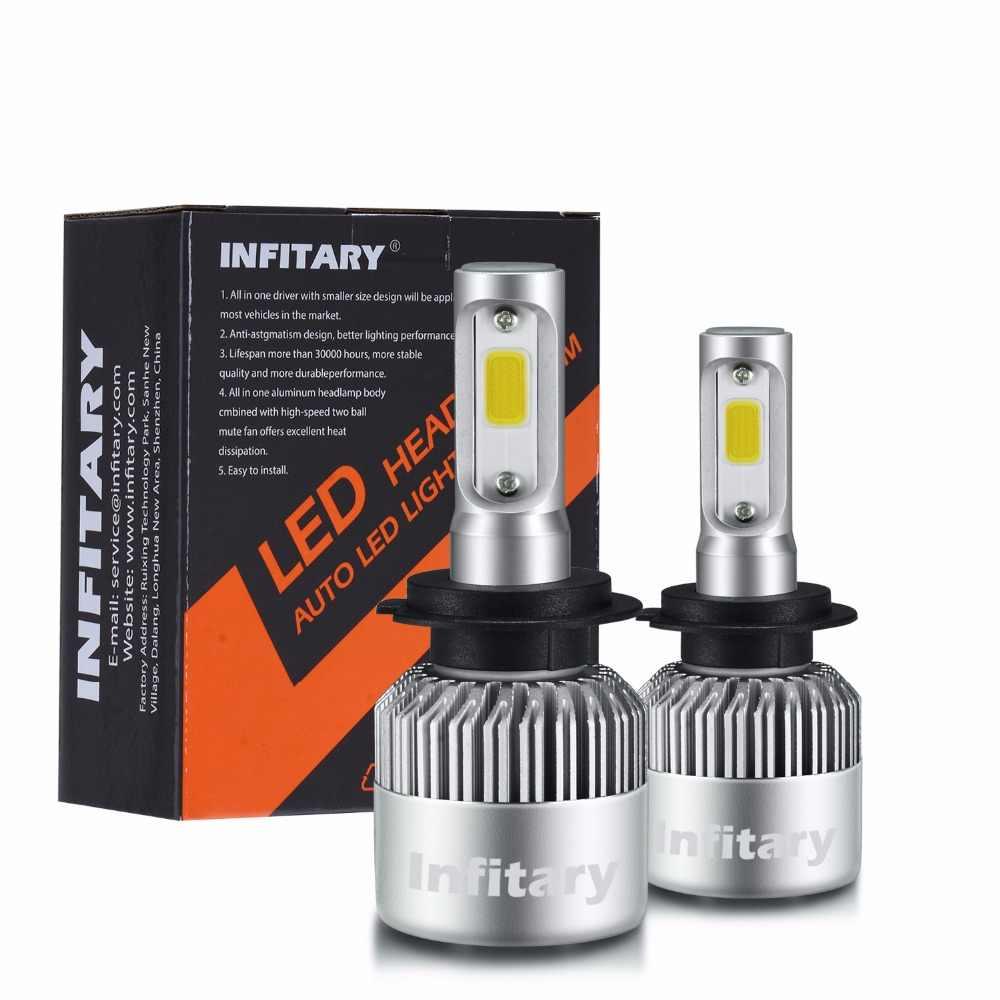 Car Headlight H7 LED H4 H1 H3 H11 H13 HB1 HB2 HB3 HB4 HB5 9003 9004 9005 9006 9007 72W 8000LM 12V Auto Headlamp 6500K Light Bulb