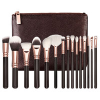 Professional Makeup Brushes Set 8Pcs 12Pcs 15Pcs Make Up Brushes High Quality Synthetic Hair PU Leather