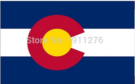 3x5ft High quality New fashion Colorado flag United State American Banner Digital Printing 100D