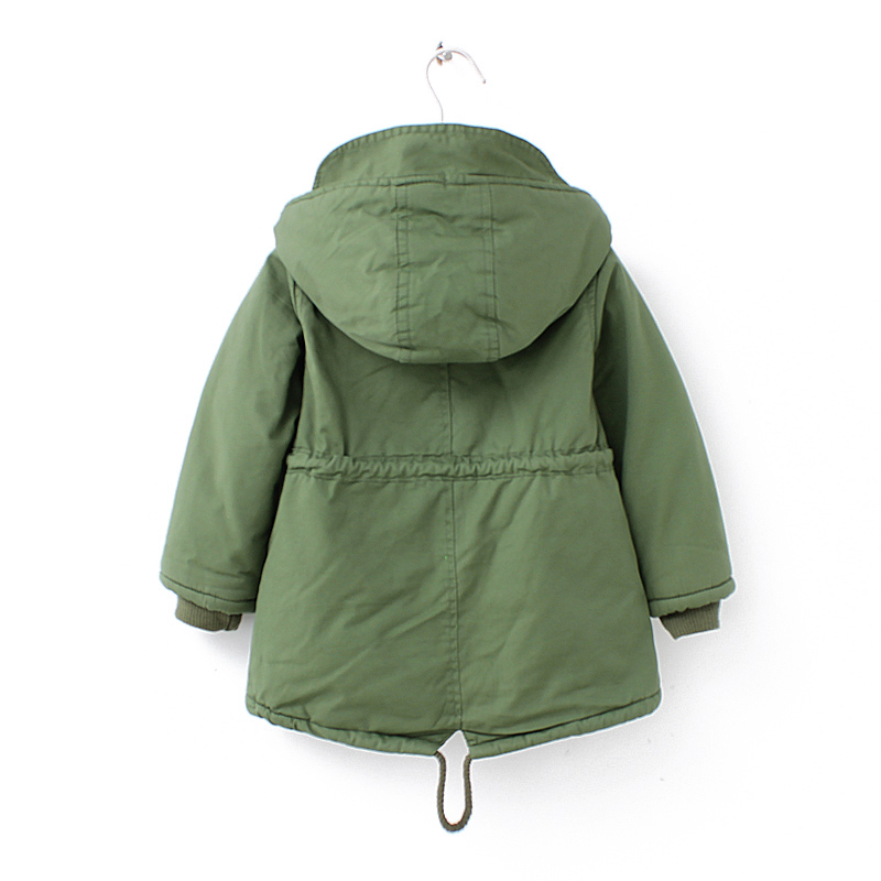 New winter children down & parkas 2-9Y European style boys girls warm outerwear color green blue hooded coats for girls 7