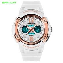 SANDA женские спортивные часы модные светодио дный водостойкие светодиодные многоцелевые цифровые наручные часы кварцевые часы Montre Femme Relogio Feminino