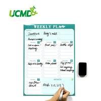 Calendário Imã de geladeira magnética Seca Apagar Bordo Para-Fazer Lista Semanal Organizador Planejador Diário para Cozinha Frigorífico