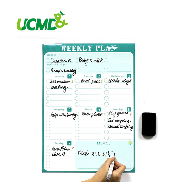 Magnetic Calendar Fridge Magnets Dry Erase Board To Do List Weekly Daily  Planner Organizer For
