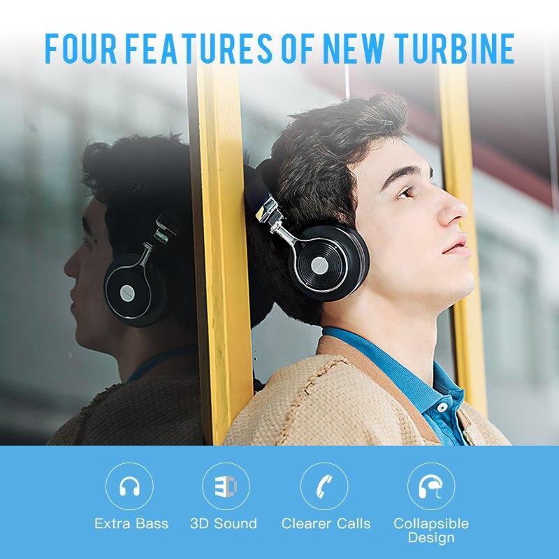 Original Bluedio T3 auriculares estéreo inalámbricos auriculares bluetooth portátil con micrófono para Iphone Samsung Xiaomi teléfono música