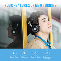 Bluedio T3 Wireless 3D Stereo Bluetooth Earphones Portable Media Headset With 57mm Drivers