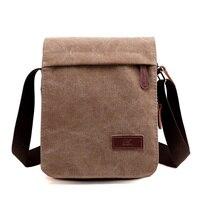 New Fashion Men Messenger Bags Canvas Crossbody Bag Casual Vintage Flap Solid High Quality Canvas Zipper