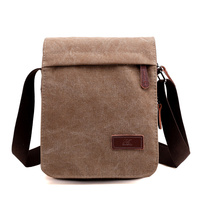 New Fashion Men Messenger Bags Canvas Crossbody Bag Casual Vintage Flap Solid High Quality Canvas Zipper