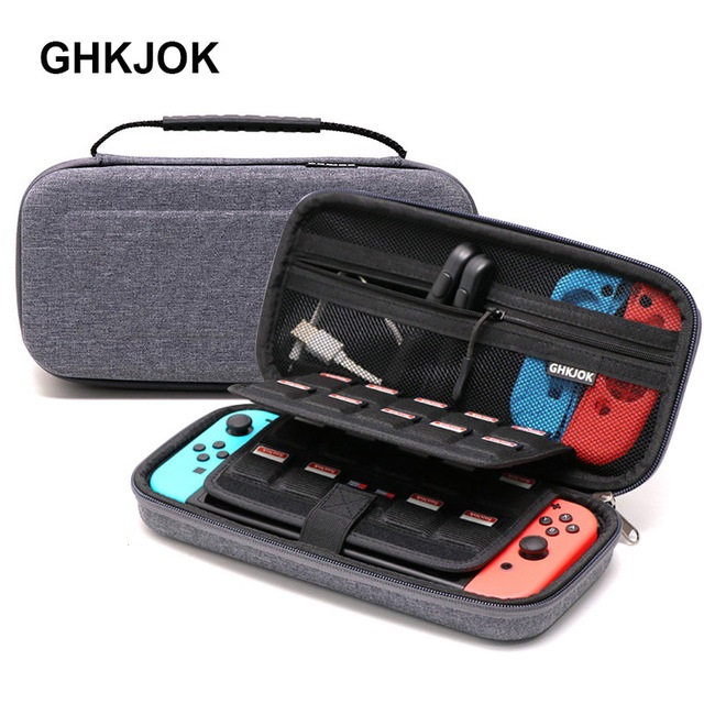 High quanlity Grey Hard Bag Storage Travel Carry Pouch Case Protective Gray Bags for NS Nintendo Switch