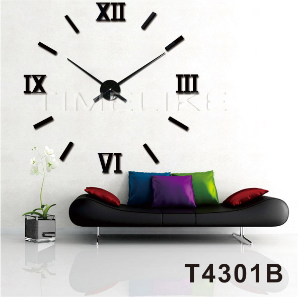 home wall decoration mirror wall sticker clock diy 3d wall clock