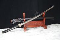 HIGH QUALITY HAND FORGED JAPANESE SAMURAI SWORD 1095 CLAY TEMPERED FULL TANG WAVE TSUBA RAZOR SHARP