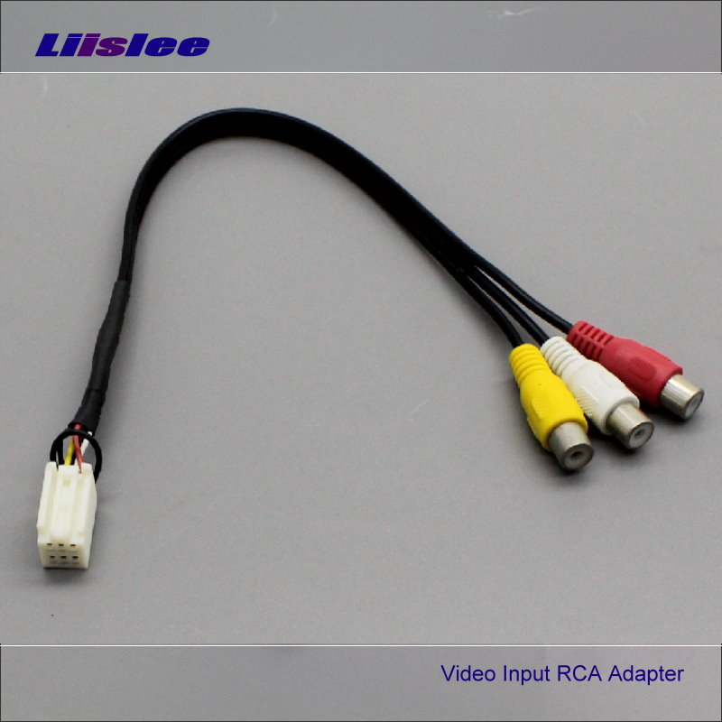 Liislee 6 Pins Original Video Input RCA Adapter Wire Cable For Toyota 7283 5862 18017 18020 DVD Player Connect Rear View Camera