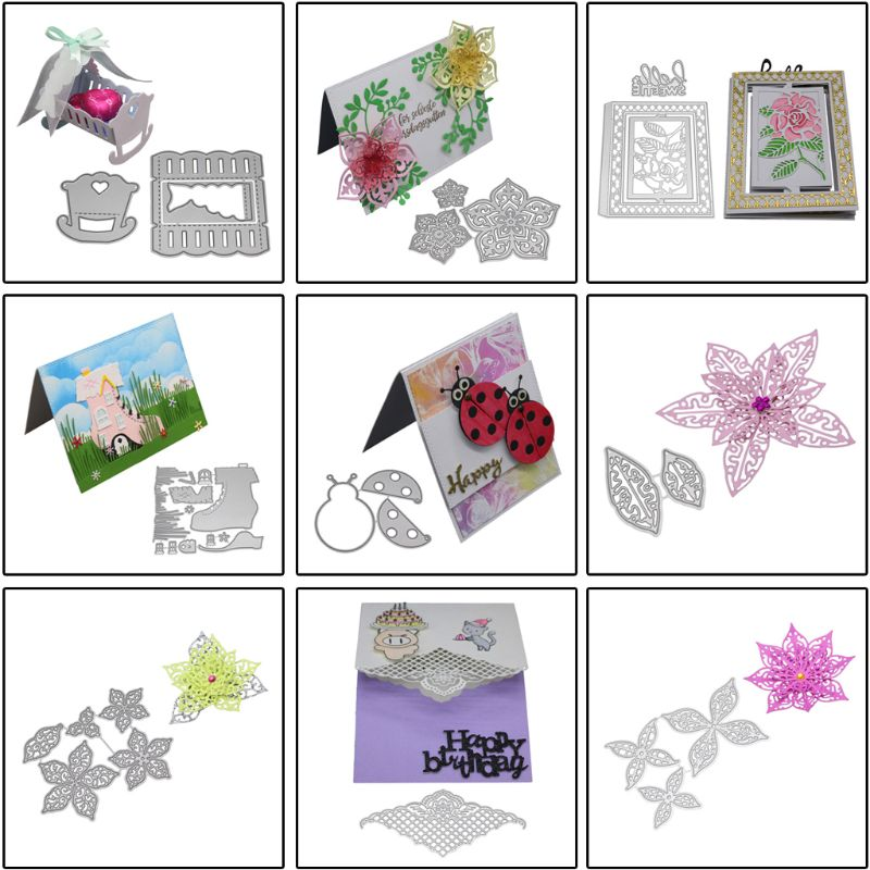 3D Baby Cot Cutting Dies Stencil DIY Scrapbook Paper Card Embossing Craft