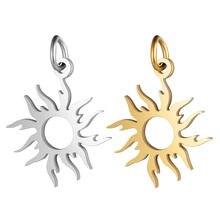 5 unids/lote 100% Acero inoxidable sol encanto venta al por mayor la fabricación de la joyería DIY encanto joyería encantos nunca manchó colgante de acero