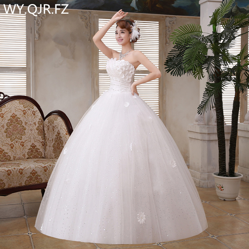 LYG H52 Ball Gown Wholesale cheap Bride s wedding dress lace up Dresses white Spring 2019