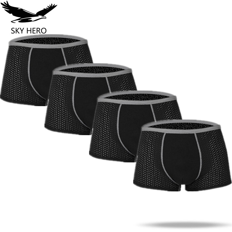 Soft Boxers Men Underwear Soft Boxer Shorts Solid Men Underpant Man Comfortable Male Panties Cueca Bamboo Fiber Boxershorts