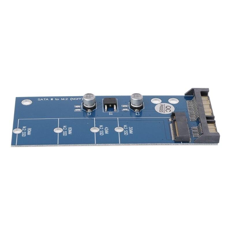 M2 NGFF SSD SATA3 SSDs To SATA Expansion Card Adapter SATA To NGFF Converter 2