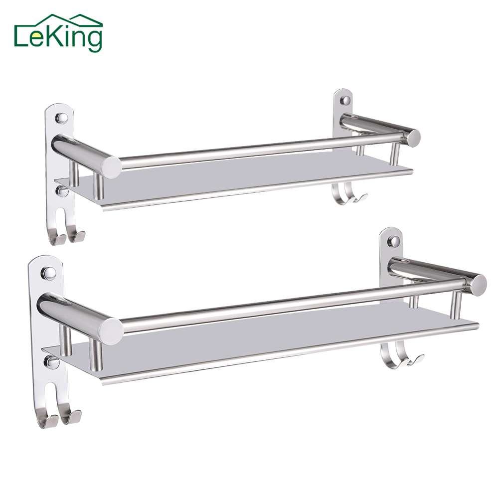 Leking 304 stainless steel kitchen bathroom wall mounted - Bathroom shelves stainless steel ...