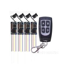 Мини беспроводной пульт дистанционного управления 3,7 v 4,5 v 5 v 6 v 9 v 12 v микроприемник+ передатчик DC3.5V-12V широкого напряжения