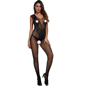 Hot Woman Teddies Sex Body Stocking Novelty & Special Use Exotic Apparel Vest Sexy Lingeries Angle Wings Pattern Latex Catsuit 2