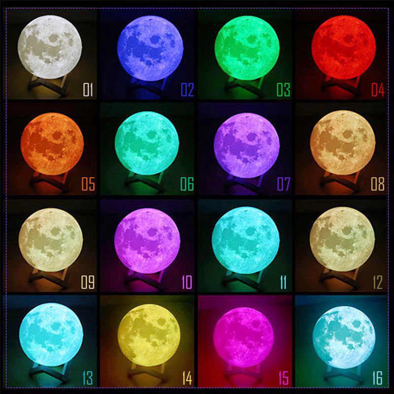 Đèn trung thu 3D In LED Đèn Ngủ Ánh Trăng USB Sạc Trang Trí Nhà QP2