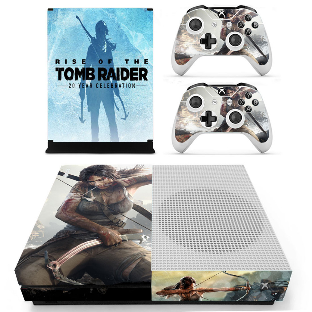 Rise of Tomb Raider Skin Sticker Decal For Xbox One S Console and Controllers for Xbox One Slim Skin Stickers Vinyl
