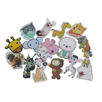 1pcs Acrylic badges pins animal figure Kawaii and cool for backpack for clothes as a brooch