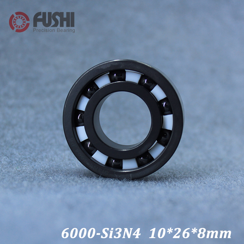 купить 6000 Full Ceramic Bearing ( 1 PC ) 10*26*8 mm Si3N4 Material 6000CE All Silicon Nitride Ceramic Ball Bearings онлайн