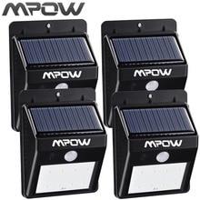 Mpow 4 Packs 8 LED Solar Energy Light Security Motion Sensor Led Solar Lamp Outdoor Garden Decoration Waterproof Driveway Lights