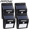Mpow MSL3F 4 Packs 8 LED Solar Light Security Motion Sensor Outdoor Waterproof Garden Light
