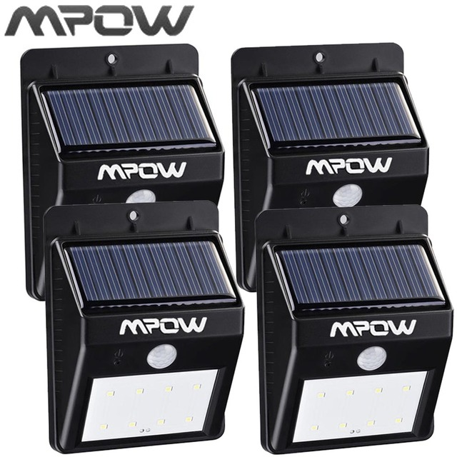Mpow 8 LED Solar Energy Light Security Motion Sensor Led Solar Lamp Outdoor Garden Decoration Waterproof Driveway Lights