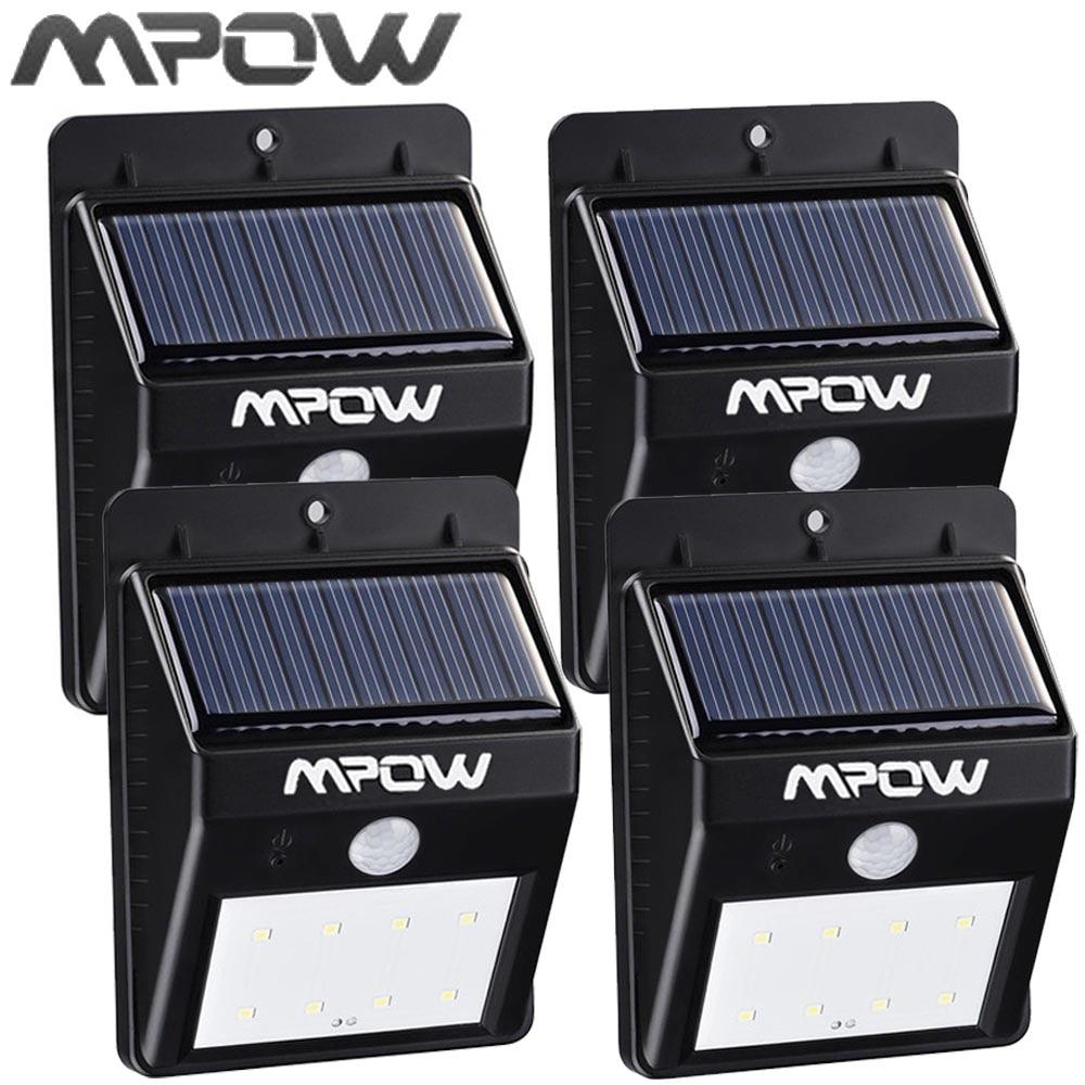 Mpow 8 <font><b>LED</b></font> Solar Energy Light Security <font><b>Motion</b></font> Sensor <font><b>Led</b></font> Solar Lamp Outdoor Garden Decoration Waterproof Driveway Lights