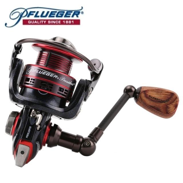 2016 Pflueger PRESLESP 20 25 30 Spinning Fishing Reel Salt Fresh Water 170g 7BB 10BB 5.2:1 with graphite material Fishing Gear