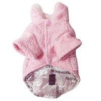 Собака Куртка зимняя овечья твид Ткань Модные теплый толстый Собака Одежда Горячая плюс Размеры