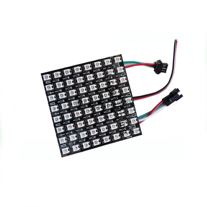 10X WS2812B full color led 8*8 dot matrix panel flexible 90*90mm LED display express free shipping wester ws 10 b